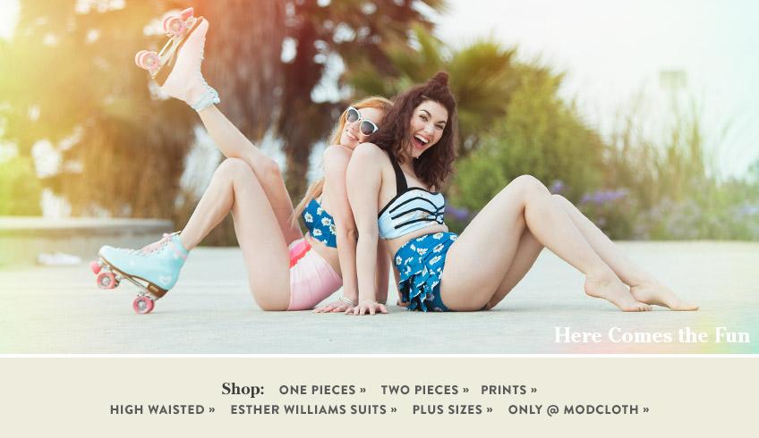 Retro & Cute Swimsuits, Bathing Suits & Swimwear